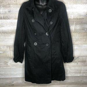 Old Navy black midi trench coat